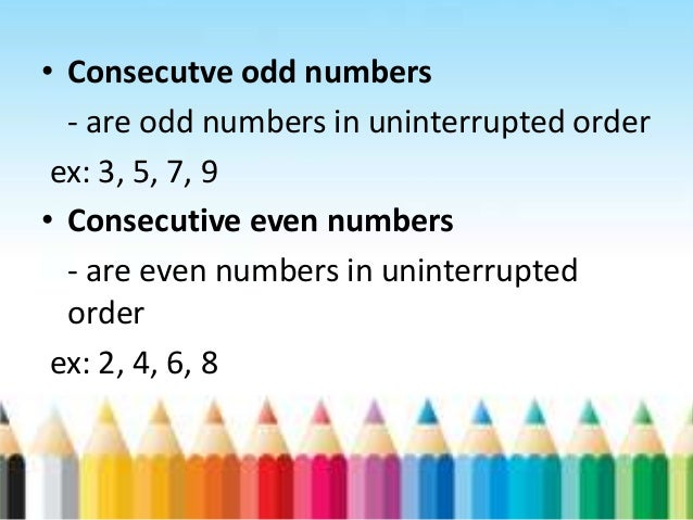 What are consecutive numbers? Definition & examples video.