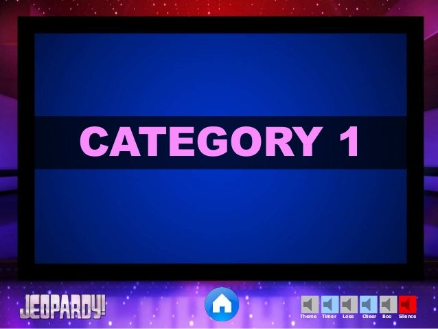 Blank Jeopardy Template  Educational Technology