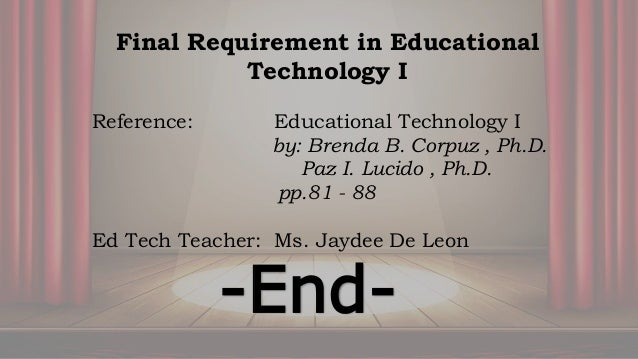 Ed tech i teaching with dramatized experiences 25 final requirement in educational technology fandeluxe Images
