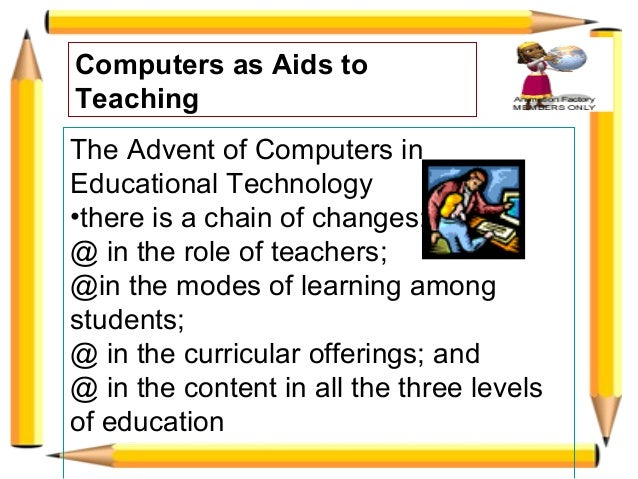 Computer as Aids to Teaching Slide 3