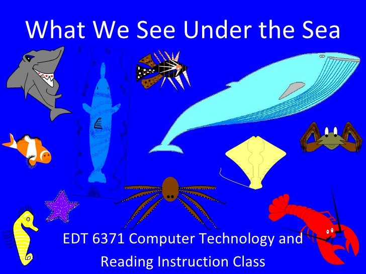 What We See Under the Sea EDT 6371 Computer Technology and Reading Instruction Class