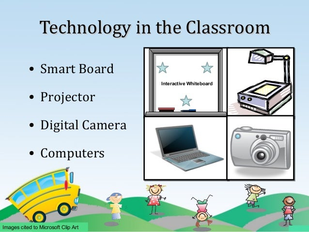 classroom with smartboard clipart - 638×479