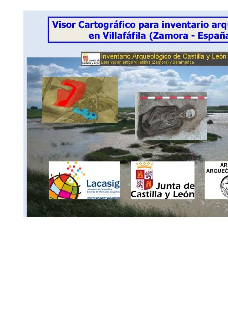 Visor Cartográfico para inventario arqueológico        en Villafáfila (Zamora - España)