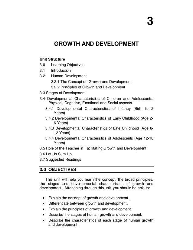 characteristics of development in psychology