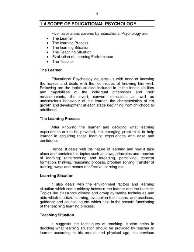 areas of individual differences in psychology