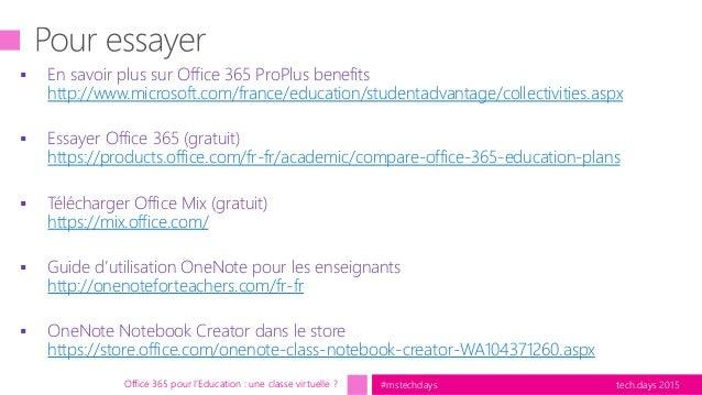 Office 365 pour l 39 education une classe virtuelle - Office gratuit enseignant ...