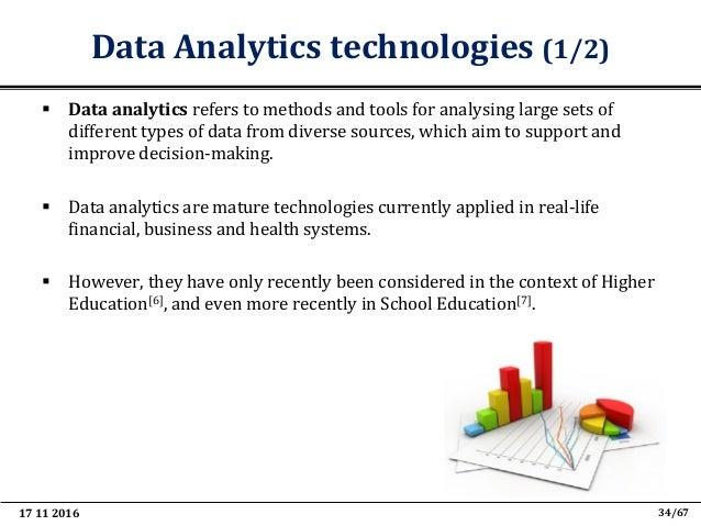 """17 11 2016 46/67 Learning Analytics  Learning Analytics have been defined as[8]: """"The measurement, collection, analysis a..."""