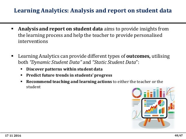 17 11 2016 60/67 Teaching and Learning Analytics to support Teacher Inquiry • TLA can support teachers engage in the teach...
