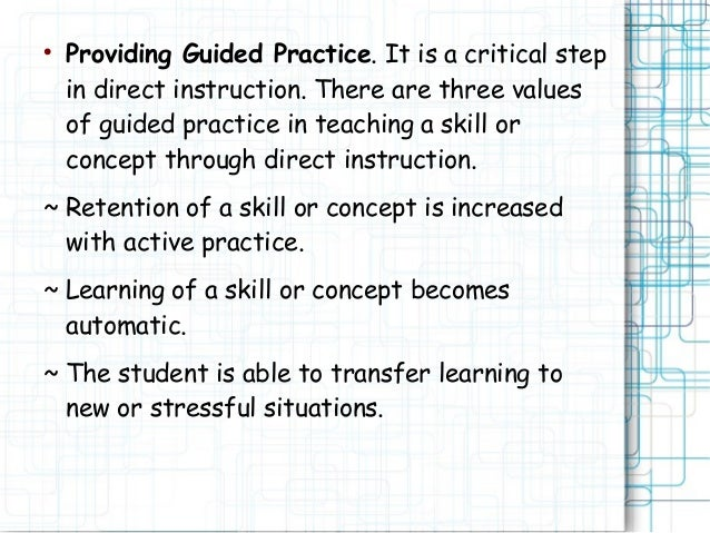 what is direct instruction in teaching