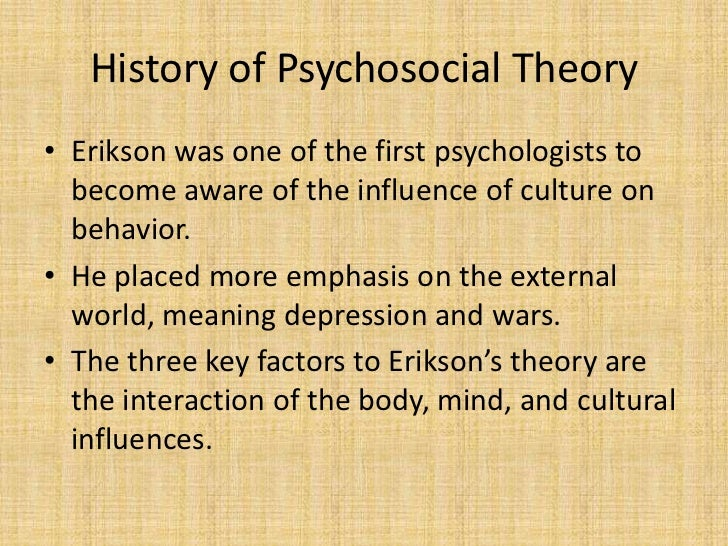 relavance of erickson theory in middle Modeling and role-modeling theory - mrm by erickson the future of the theory of interpersonal relations a personal reflection on peplau's legacy.