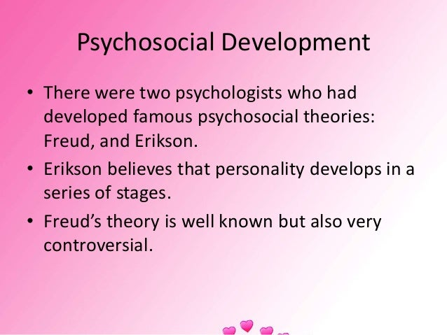 analysis of eriksons theories on development essay Erikson's formulation is a stage theory a stage is a development period during which characteristic patterns of behaviour are exhibited and certain capacities become established (weiten, 1995, p432.