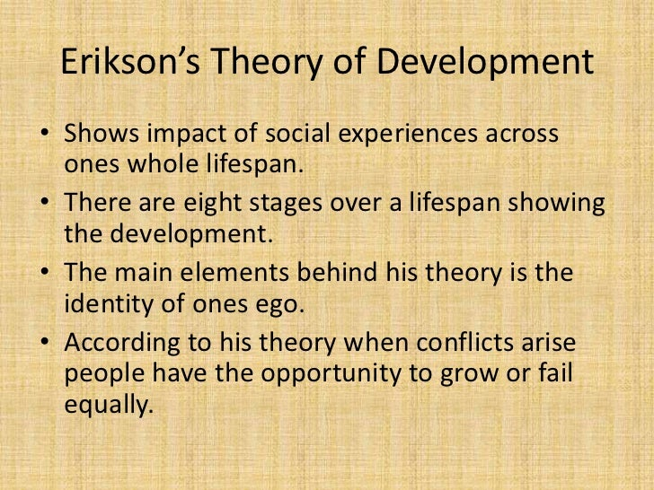 eriksonss psychosocial theory essay Biography of erik erikson erik hamburger erikson born in 1902 frankfurt a custom essay sample on ericksons psychosocial theory.