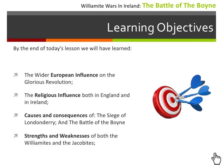 edu301 lesson plan draft the williamite wars in ireland the boyne