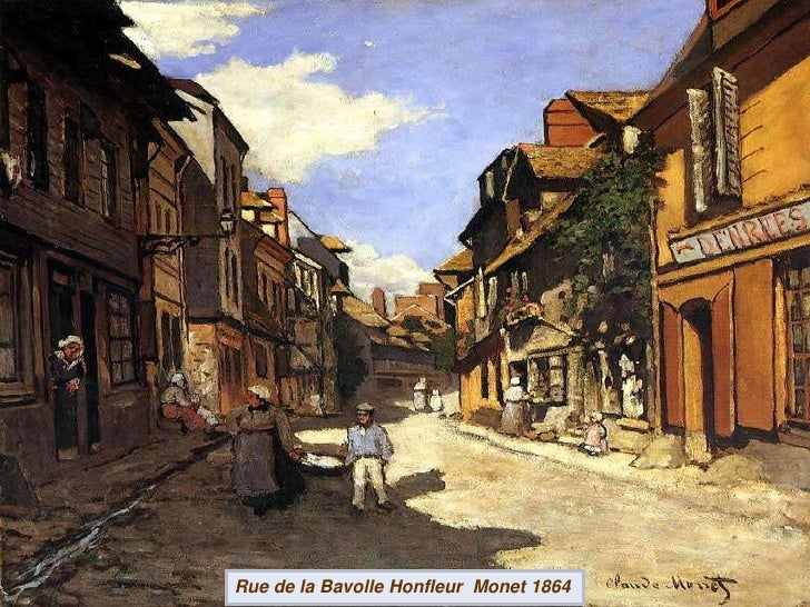 Rue de la Bavolle Honfleur  Monet 1864<br />