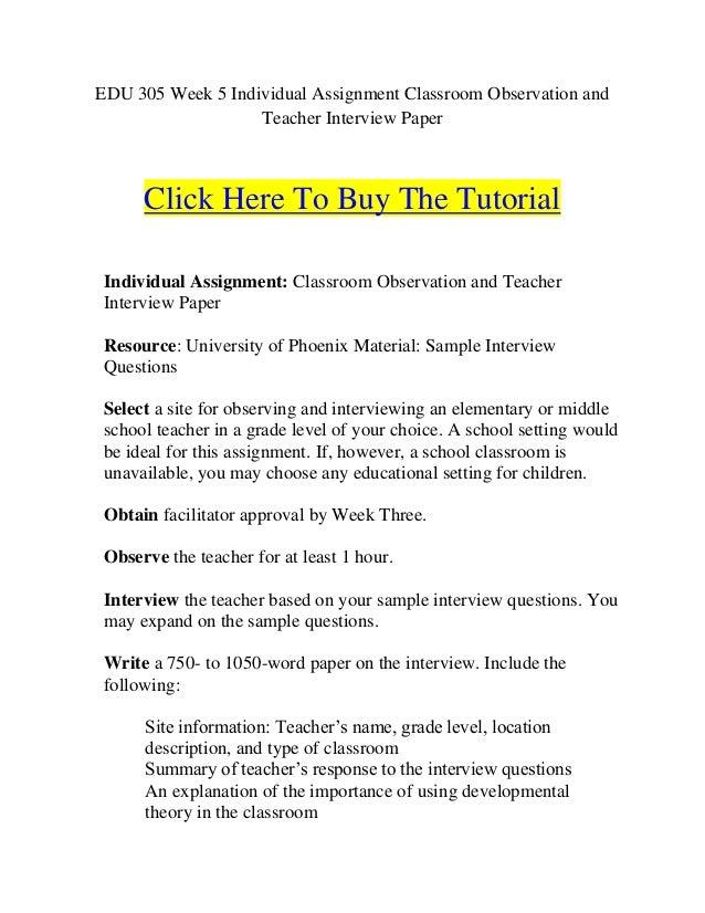 sample classroom observation summary