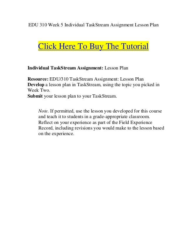 how to write a lesson plan assignment
