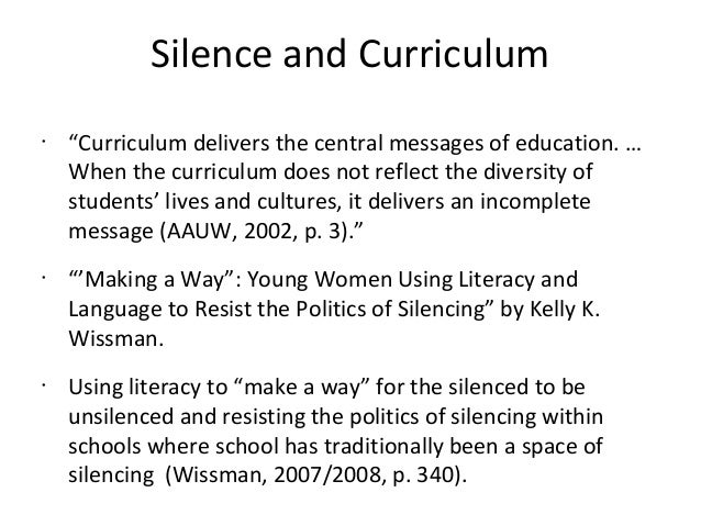 Young women using literacy and language as a form of resistance
