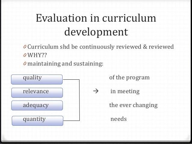 curriculum design and evaluation essay Free curriculum development papers, essays curriculum development, design organization of the curriculum or the evaluation of the curriculum.