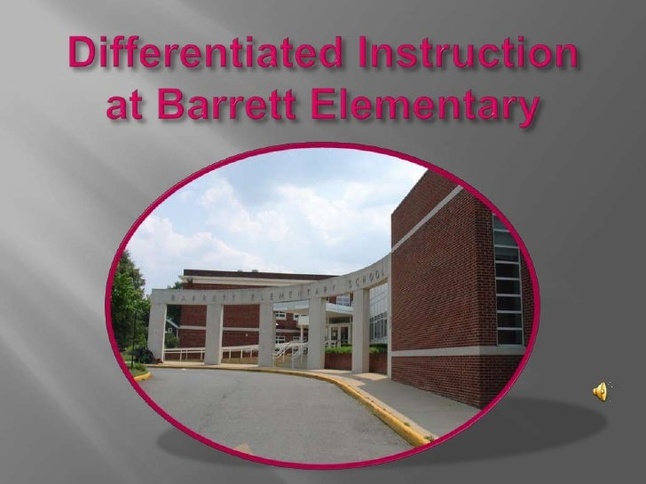Differentiated Instruction at Barrett Elementary<br />