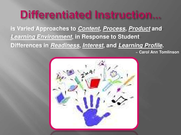 Edu 610 Final Project Differentiated Instruction Powerpoint With S