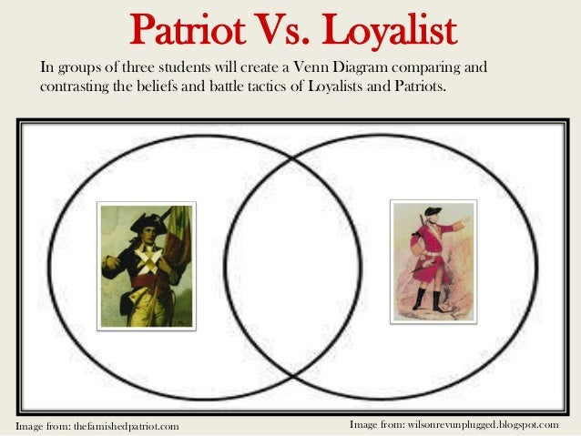 loyalist vs patriot essay