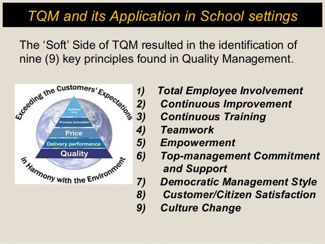 tqm practices This study aims to discuss the evolution, principles, and stages of total quality  management tqm in public health care organizations.