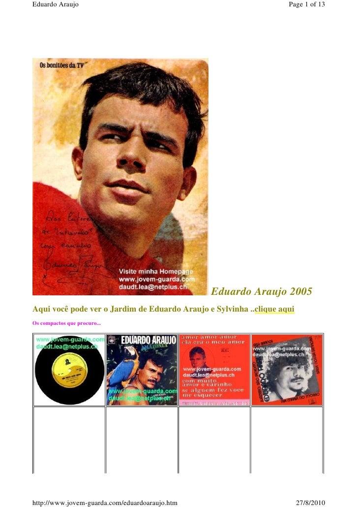 Eduardo Araujo                                                      Page 1 of 13                                          ...