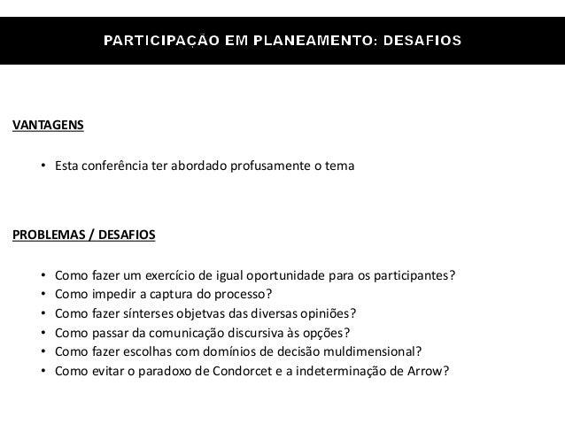 Eduardo Anselmo Castro - Metodologias de participação em planos estratégicos Slide 2
