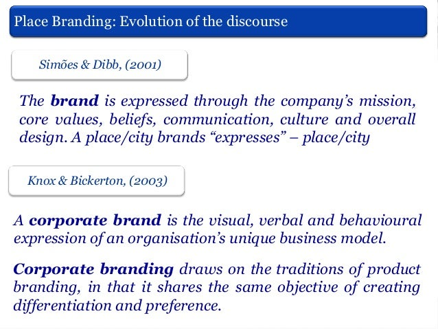 Place Branding (if applied to cities is city branding) Oliveira (2014) Is not a magical solution Does not work instantly  ...