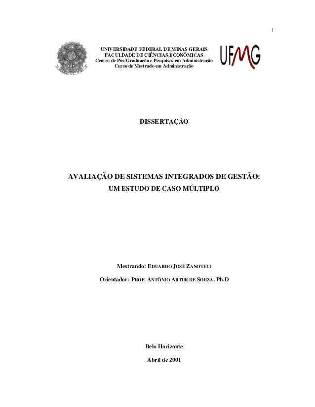 1  UNIVERSIDADE FEDERAL DE MINAS GERAIS FACULDADE DE CIÊNCIAS ECONÔMICAS Centro de Pós-Graduação e Pesquisas em Administra...