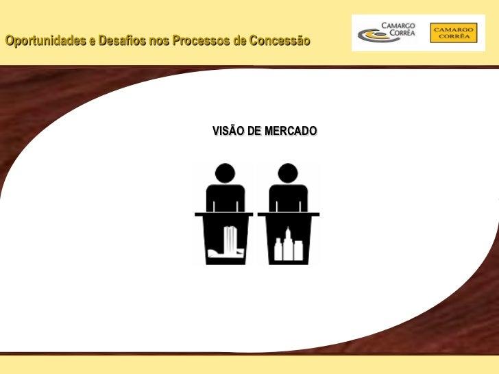 Oportunidades e Desafios nos Processos de Concessão                                  VISÃO DE MERCADO