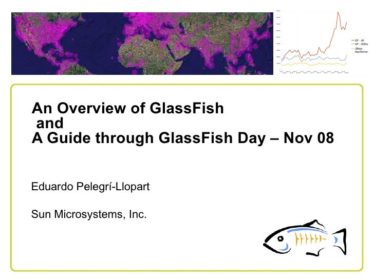 An Overview of GlassFish and A Guide through GlassFish Day – Nov 08   Eduardo Pelegrí-Llopart  Sun Microsystems, Inc.