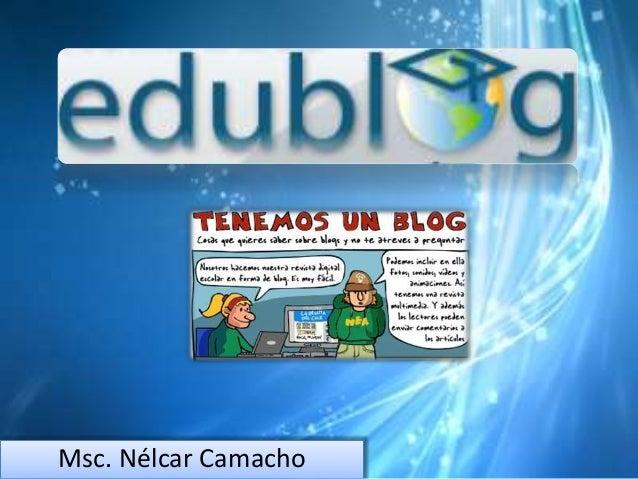 Msc. Nélcar Camacho