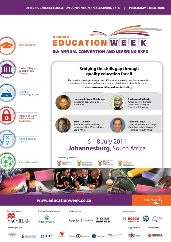 AFRICA'S LARGEST EDUCATION CONVENTION AND LEARNING EXPO                                                   |     PROGRAMME ...
