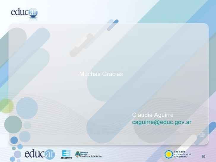 Muchas Gracias Claudia Aguirre [email_address]