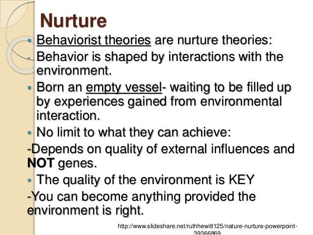 Interaction Of Nature And Nurture In Human Development