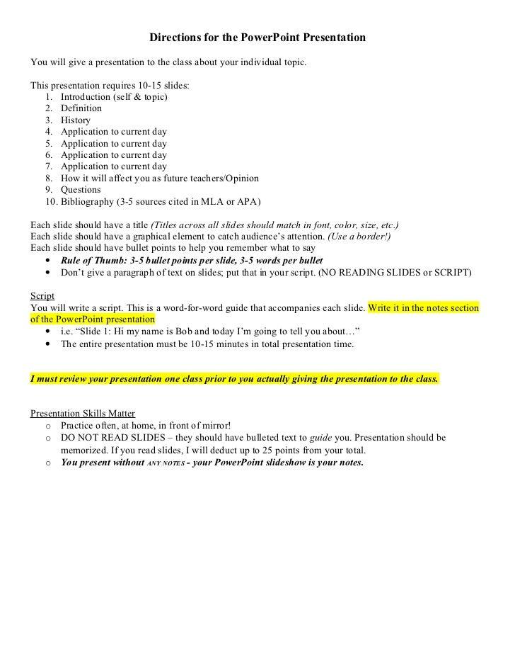 Educ 201 Individual Topic Presentation Rubric