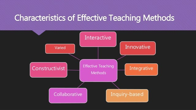 effective ways of teaching method Effective adult learning to be effective in teaching adults there are many ways to develop instruction, and educators.
