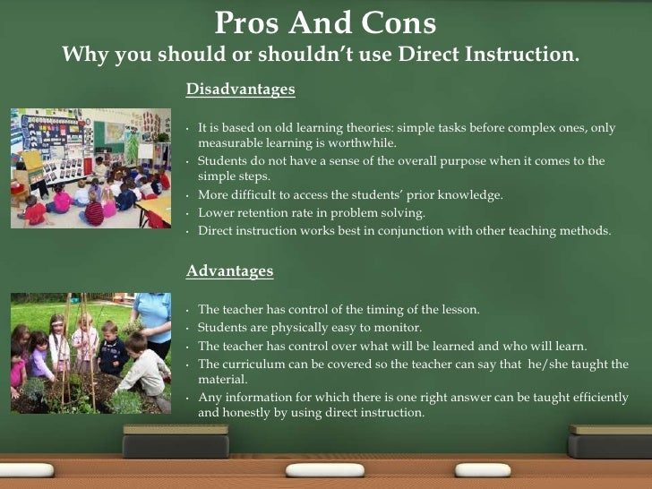 Some Advantages & Disadvantages of Direct Teaching