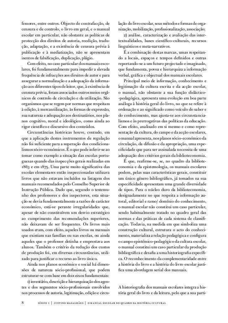 fessores, entre outros. objecto de contrafacção, de        lação do livro escolar, seus métodos e formas de orga-censura e...