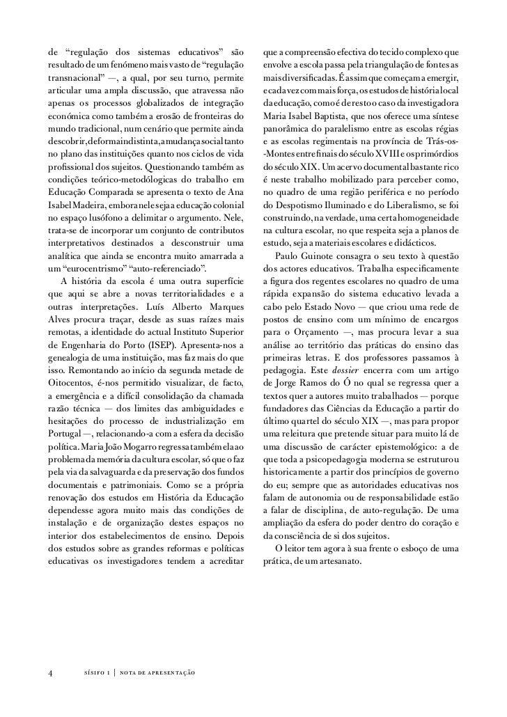"""de """"regulação dos sistemas educativos"""" são               que a compreensão efectiva do tecido complexo queresultado de um ..."""
