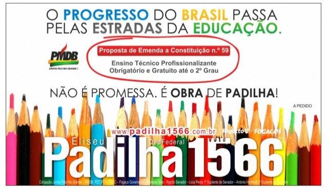 Eliseu Padilha - O desenvolvimento dos brasileiros