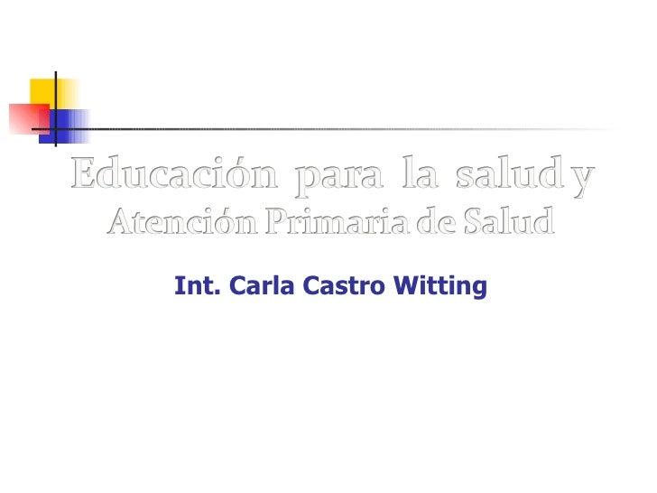 Int. Carla Castro Witting