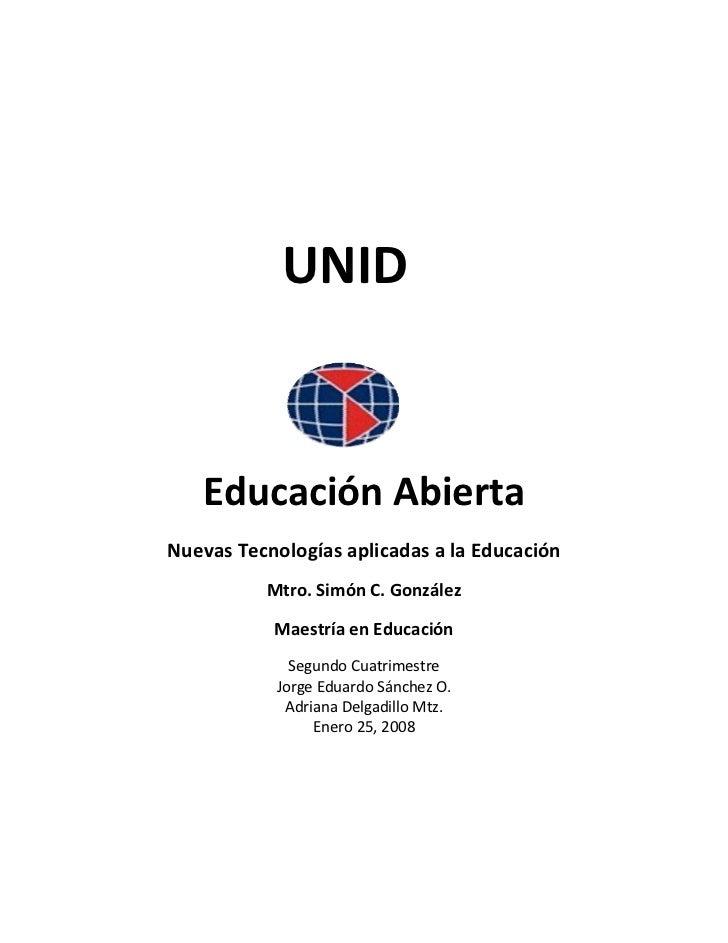 UNID                       EducaciónAbierta    NuevasTecnologíasaplica...