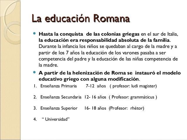 Educacion En Grecia Y Roma