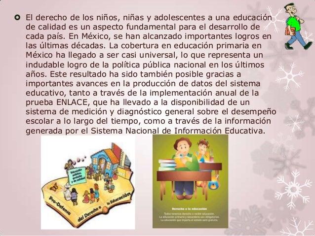  El derecho de los niños, niñas y adolescentes a una educación  de calidad es un aspecto fundamental para el desarrollo d...