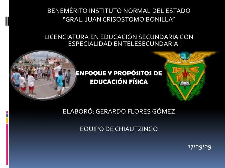 """BENEMÉRITO INSTITUTO NORMAL DEL ESTADO<br />""""GRAL. JUAN CRISÓSTOMO BONILLA""""<br />LICENCIATURA EN EDUCACIÓN SECUNDARIA CON ..."""