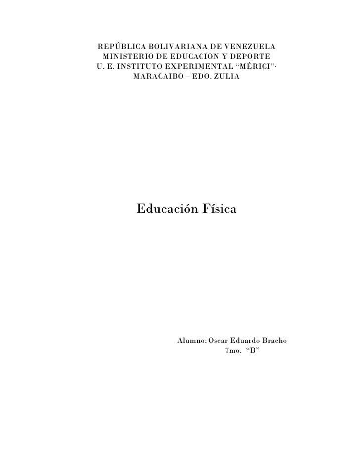 """REPÚBLICA BOLIVARIANA DE VENEZUELA MINISTERIO DE EDUCACION Y DEPORTEU. E. INSTITUTO EXPERIMENTAL """"MÉRICI""""·         MARACAI..."""