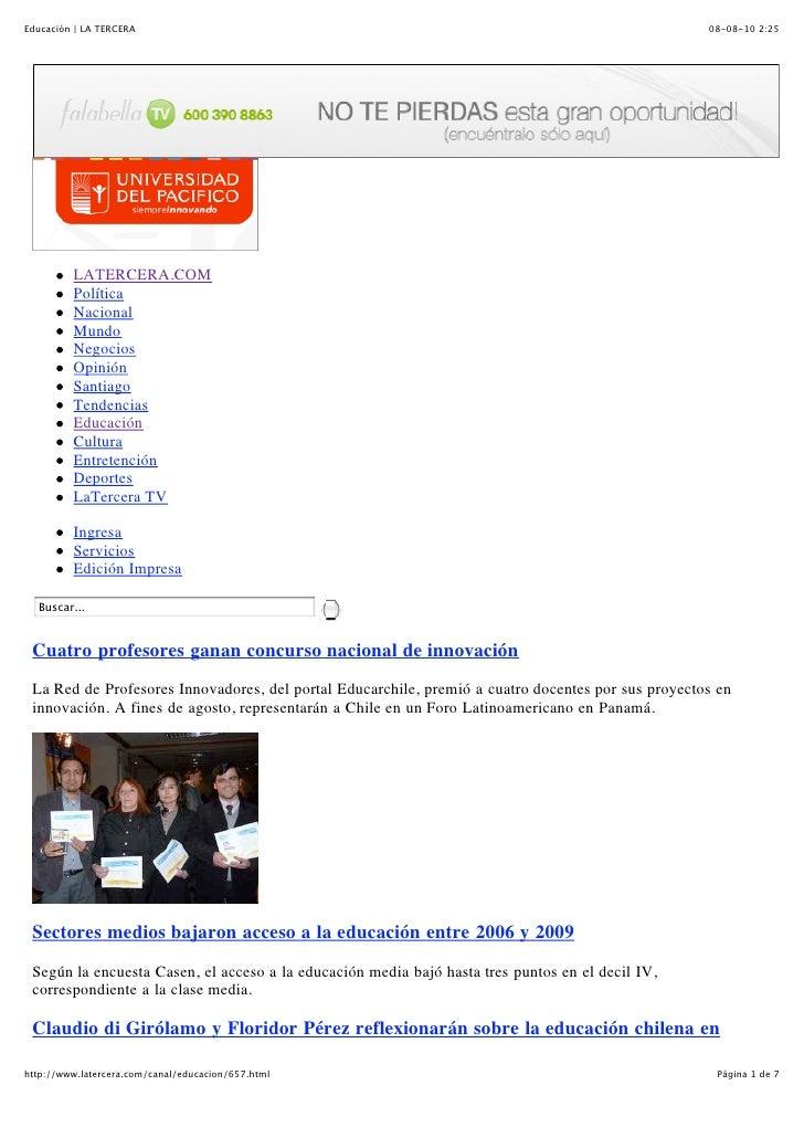 Educación | LA TERCERA                                                                              08-08-10 2:25         ...