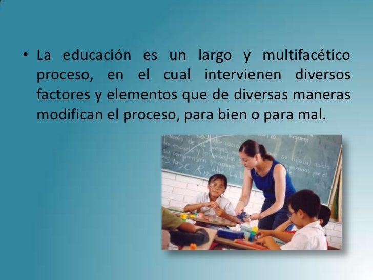 Componentes De La Educacion